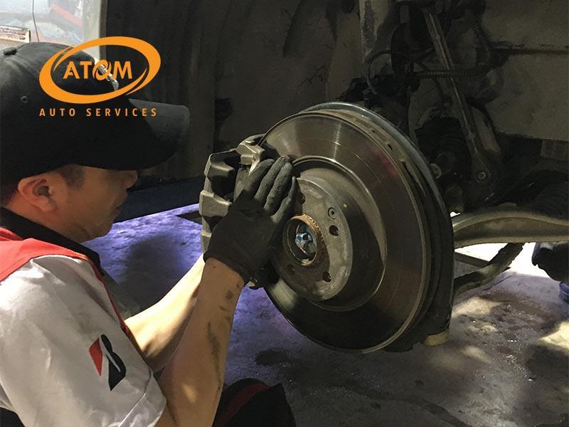 Bảo dưỡng phanh ô tô tại Atom Auto Services