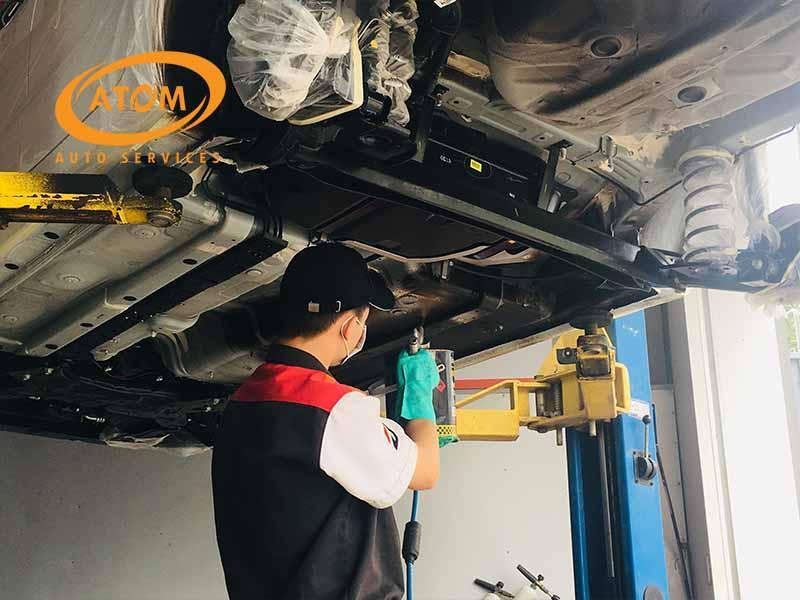 Sơn phủ gầm xe giúp đảm bảo chất lượng cho các chi tiết dưới gầm xe
