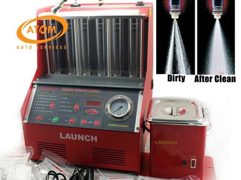 Vệ sinh kim phun bằng máy siêu âm hiện đại