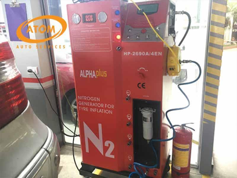 Bơm nitơ cho lốp xe