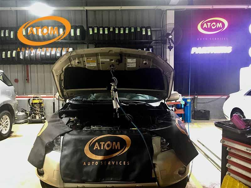 Vệ sinh kim phun buồng đốt với máy BG VIA tại ATOM Auto Services