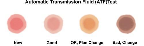Kiểm tra màu sắc để biết tình trạng của dầu hộp số