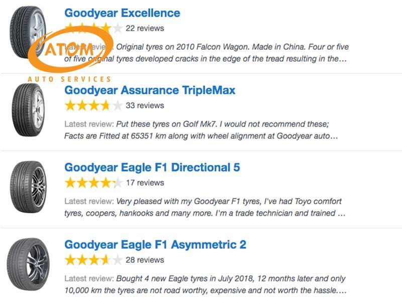 Người dùng đánh giá về lốp ô tô Goodyear