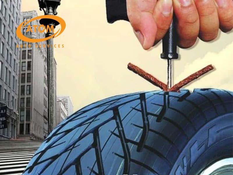 Khắc phục lốp ô tô bị dính đinh bằng phương pháp vá dùi