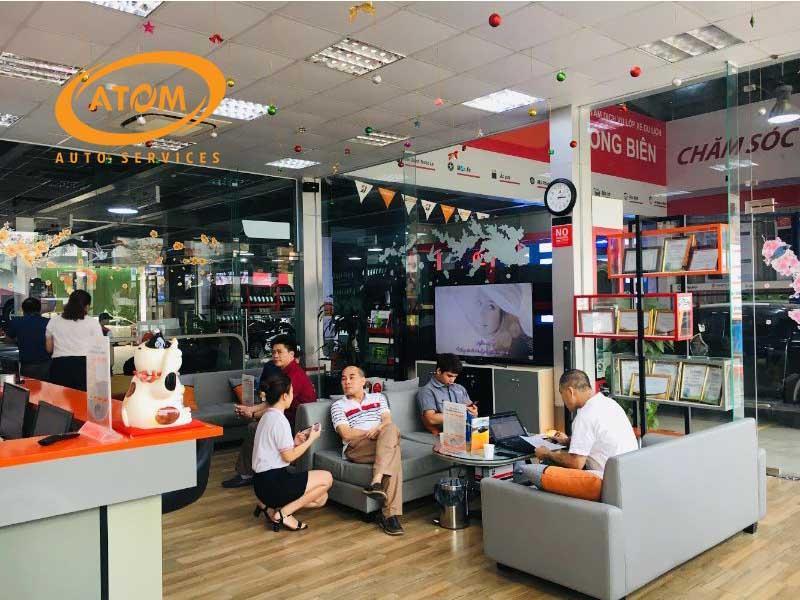 Phòng chờ 5 sao của Atom Auto Services mang đến sự hài lòng nhất cho quý khách