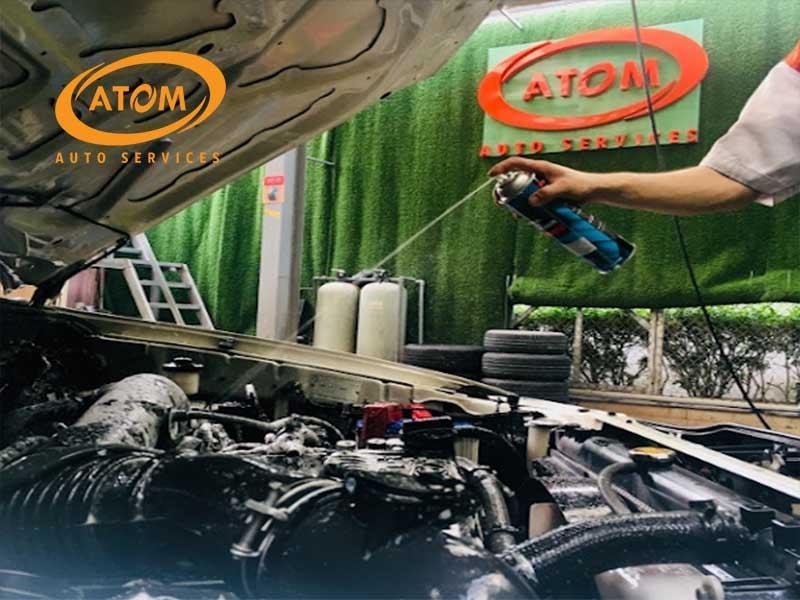 Atom Auto Services tự hào là địa chỉ vệ sinh khoang máy uy tín bậc nhất tại Hà Nội