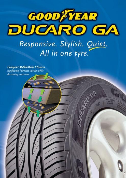 Lốp Goodyear Ducaro mang đến sự an toàn và tiết kiệm nhiên liệu