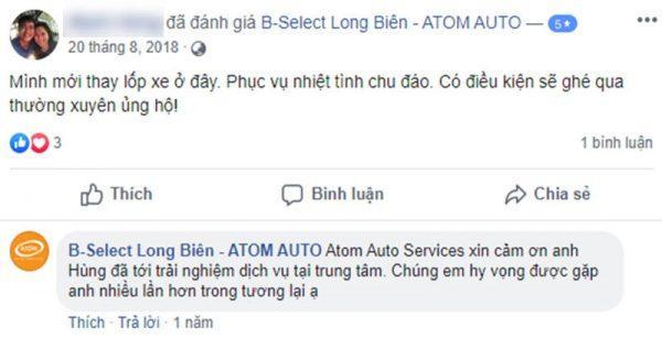Phản hồi của khách hàng Atom Autu