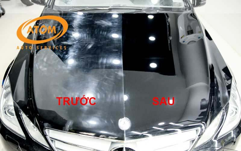 Hình ảnh trước và sau khi phủ Ceramic cho xe ô tô