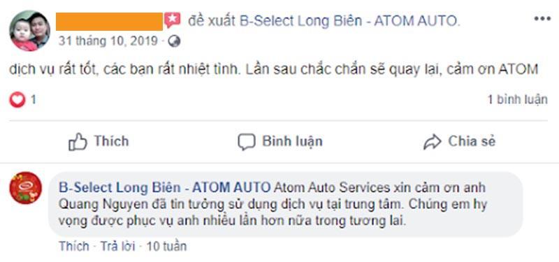 Sự chuyên nghiệp của Atom Auto Services tạo nên sự hài lòng cho khách hàng