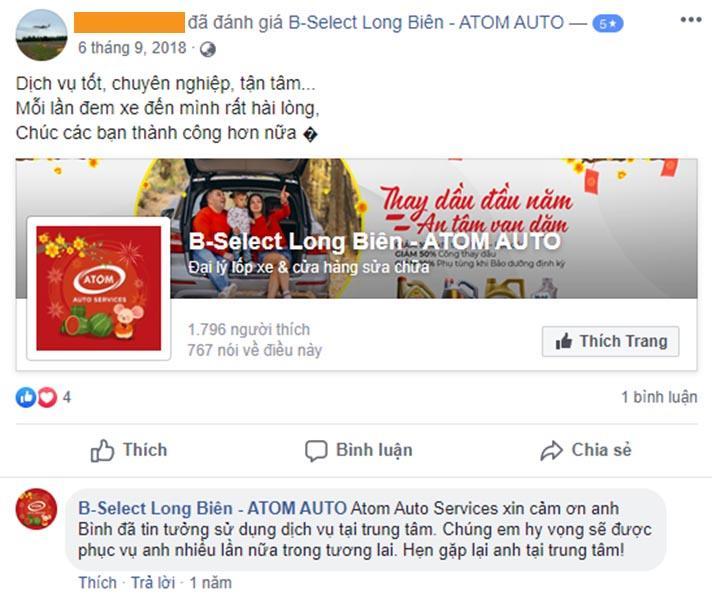 Khách hàng đánh giá về Atom Auto Services