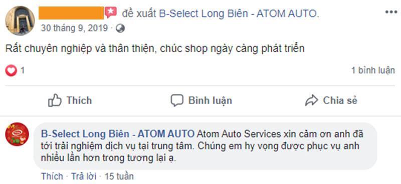 Những nhận xét và đánh giá chân thật của khách hàng đã sử dụng dịch vụ của Atom Auto Services