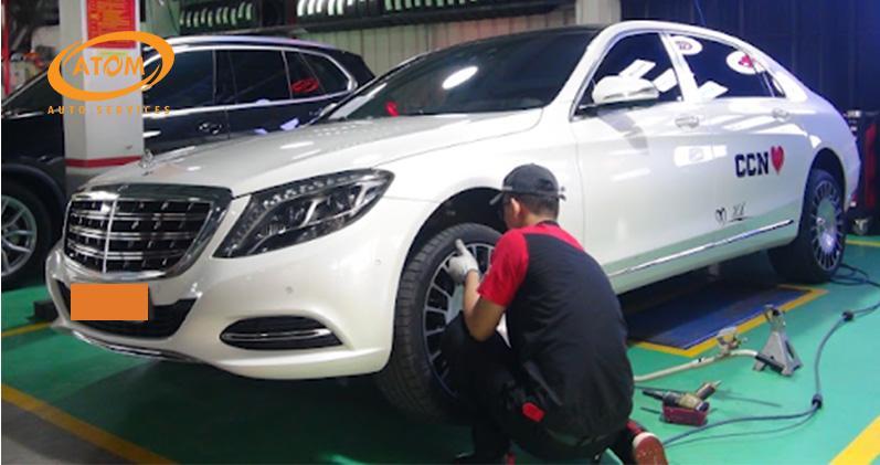 Địa chỉ thay lốp ô tô tại Long Biên tốt nhất | Atom Auto Services