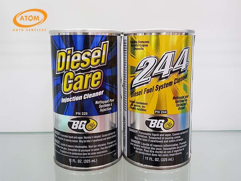Gói sản phẩm làm sạch hệ thống kim phun buồng đốt động cơ máy dầu - BG Automotive